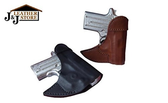 Fits Sig P365 with Lima laser brown leather wallet /& pocket holster right hand