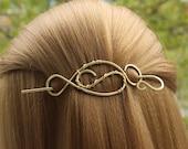 Hair Barrettes for Women, Gold Hair Clip, Hair Stuff, Wire woven Brass Hair Pin, Handmade Hairpin, Gold Hair Slide, Hair Accessories