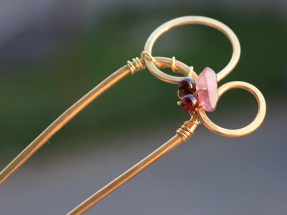 U Form Retro Metall Haar Gabel Haar Pin Haar Pick Quadratische Haarspange FT