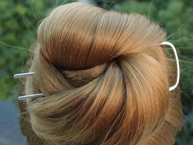 Platz Haar-Gabel Silber Bun-Halter Haarnadel Dutt Chignon   Etsy