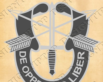 Military SVG, Army SVG, special forces logo svg, print and cut files, tattoo design, special troops logo, svg, dxf, Silhouette, Cricut