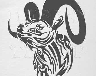5578b6c4981f7 Aries svg zodiac sign tribal tattoo design logo team sport tshirt design  horoscope signs embroidery pattern vinyl designs for shirts PNG DXF