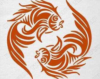 da5023ee6d4d9 Fish svg, goldfish, goldfish SVG, t-shirt designs, tattoo design,vinyl  cutting, horoscope, fishing SVG, Silhouette, Cricut