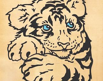 Tiger Cub Svg Etsy