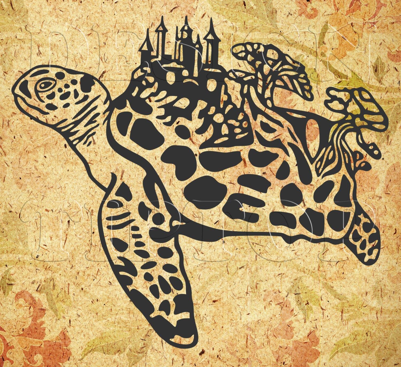 Sea Turtle SVG, print and cut files, turtle shirt, sea turtle wall ...