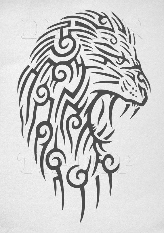 Lion Svg Lion Head Vector Art Files For Cricut Silhouette Etsy