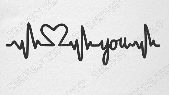 Heart Beat Svg Heart Beat Cricut Heartbeat Silhouette Ekg Etsy