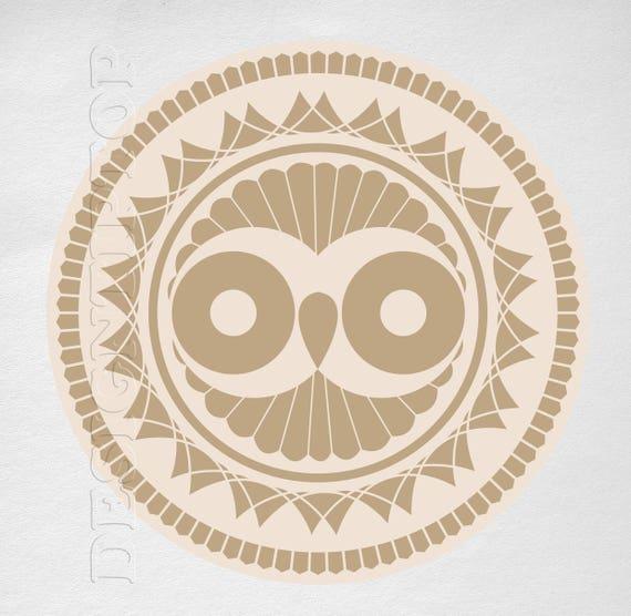 Abstract Owl Art Owl Svg Tattoo Design T Shirt Design Etsy