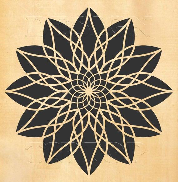 Mandala Svg Mandala Wall Art Tatuaż Mandala T Shirt Design Etsy