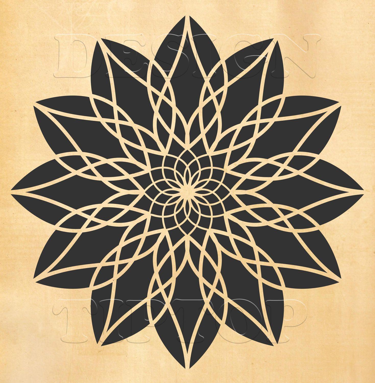 Mandala SVG mandala wall art mandala tattoo t shirt design ...