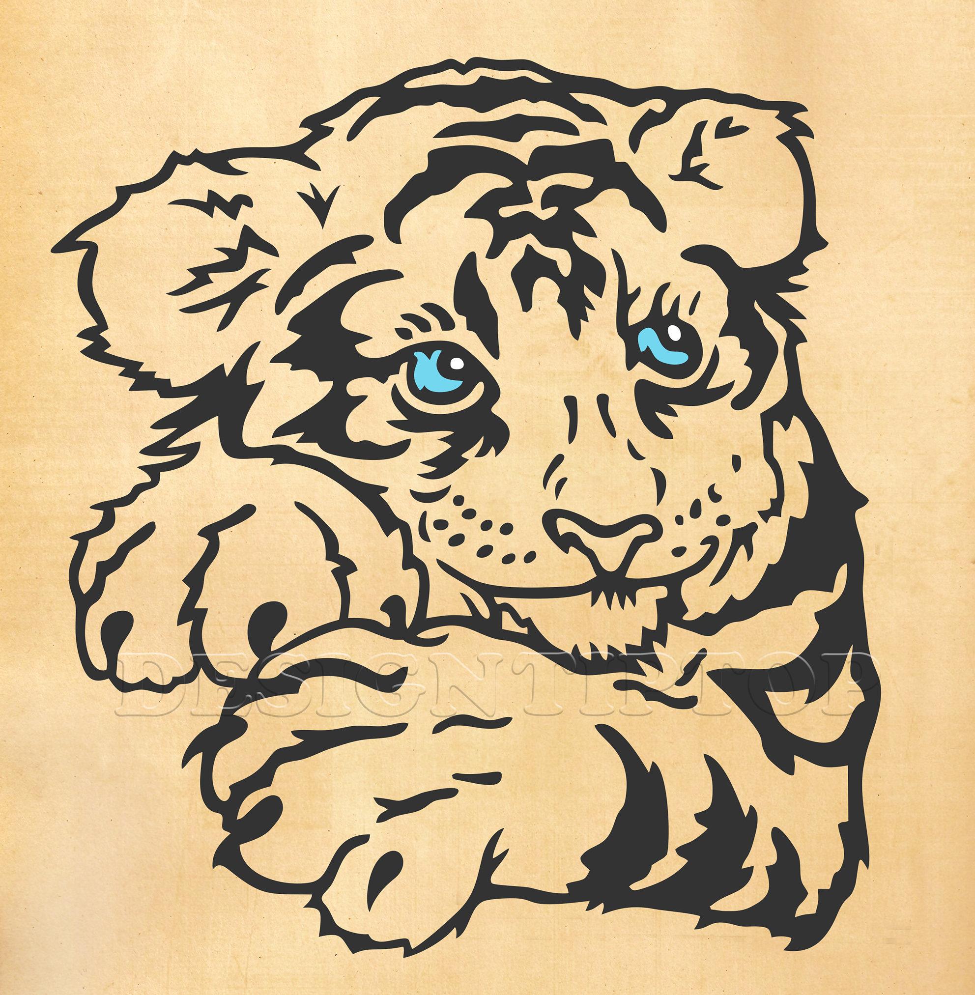 Tygrys Cub Tygrys Cub Koszula Tiger Svg Tygrys Cięcia Plik Tatuaż Tygrys Tygrys Haftu Sztuki ścianę Tygrys Tygrys Dxf Wildcats Svg