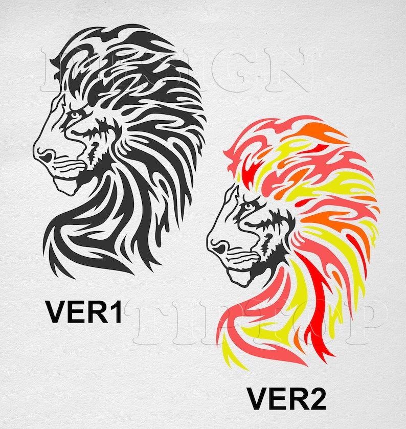 T Shirt Tattoo Design | Lion Svg Stickmuster Lowe Shirt Tattoo Design T Shirt Etsy