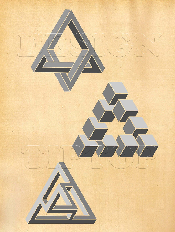 Optical illusion 3D wall art 3D SVG geometric wall art | Etsy