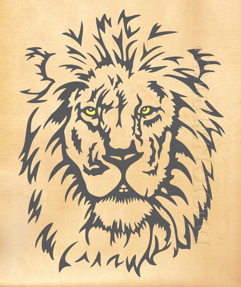 Lion Svg Lion Dxf Lion Tattoo Lion T Shirt Lew Plik Cut Etsy