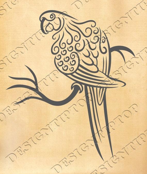 Parrot svg, dxf, png, zentangle parrot, zentangle design, wall decor ...