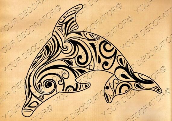 Dolphin svg , Zentangle design, scroll saw, vinyl cutting, wall ...