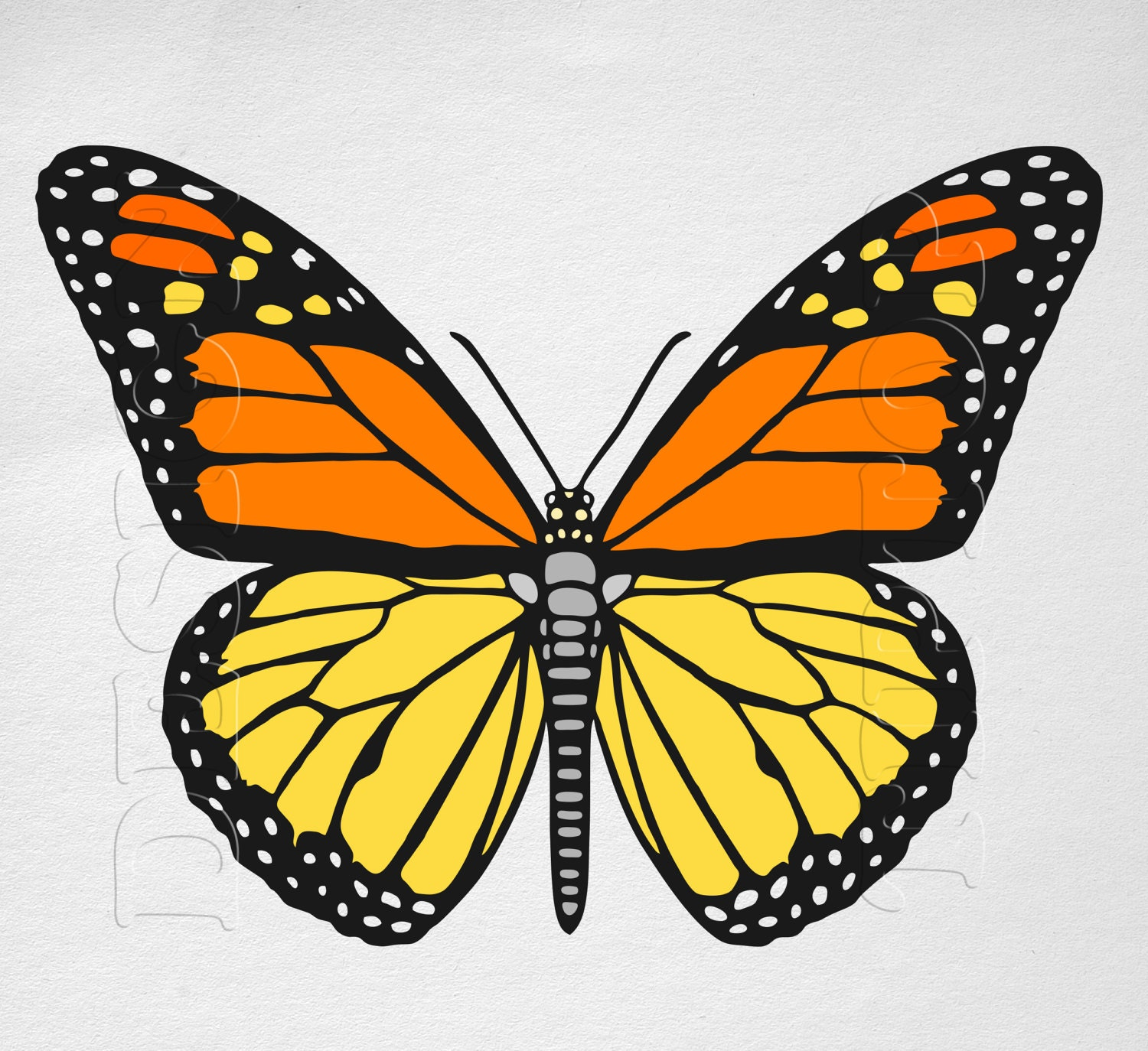 Butterfly SVG Monarch Butterfly print and cut files Cricut | Etsy