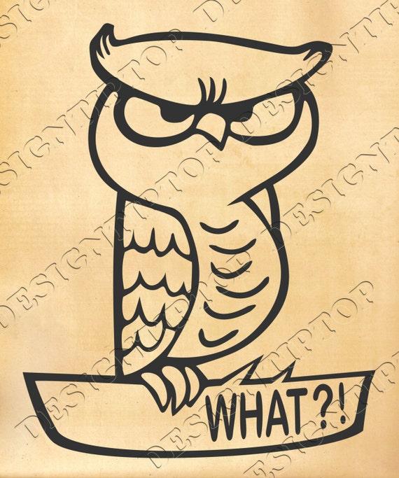 Owl SVG, owl cut file, owl print, owl shirt, owl drawing, Silhouette ...