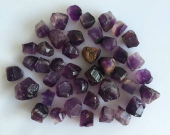 500 carats NATURAL AMETHYST ROUGH purple loose mineral gemstones lot earthmined 9 to 17 mm approx random raw crystal wholesale reiki healing