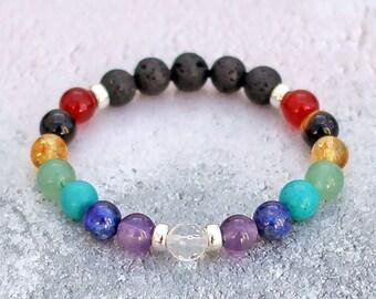 Chakra bracelet | Etsy