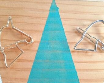 Barrette Licorne clip l  Métal argenté ou doré   Joli bijou pour cheveux   Cadeau mignon pour elle   anniversaire et Noël