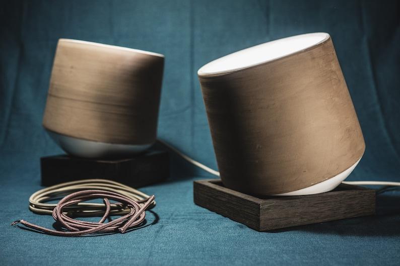 handmade pottery lamp new design idea ground lamp image 1