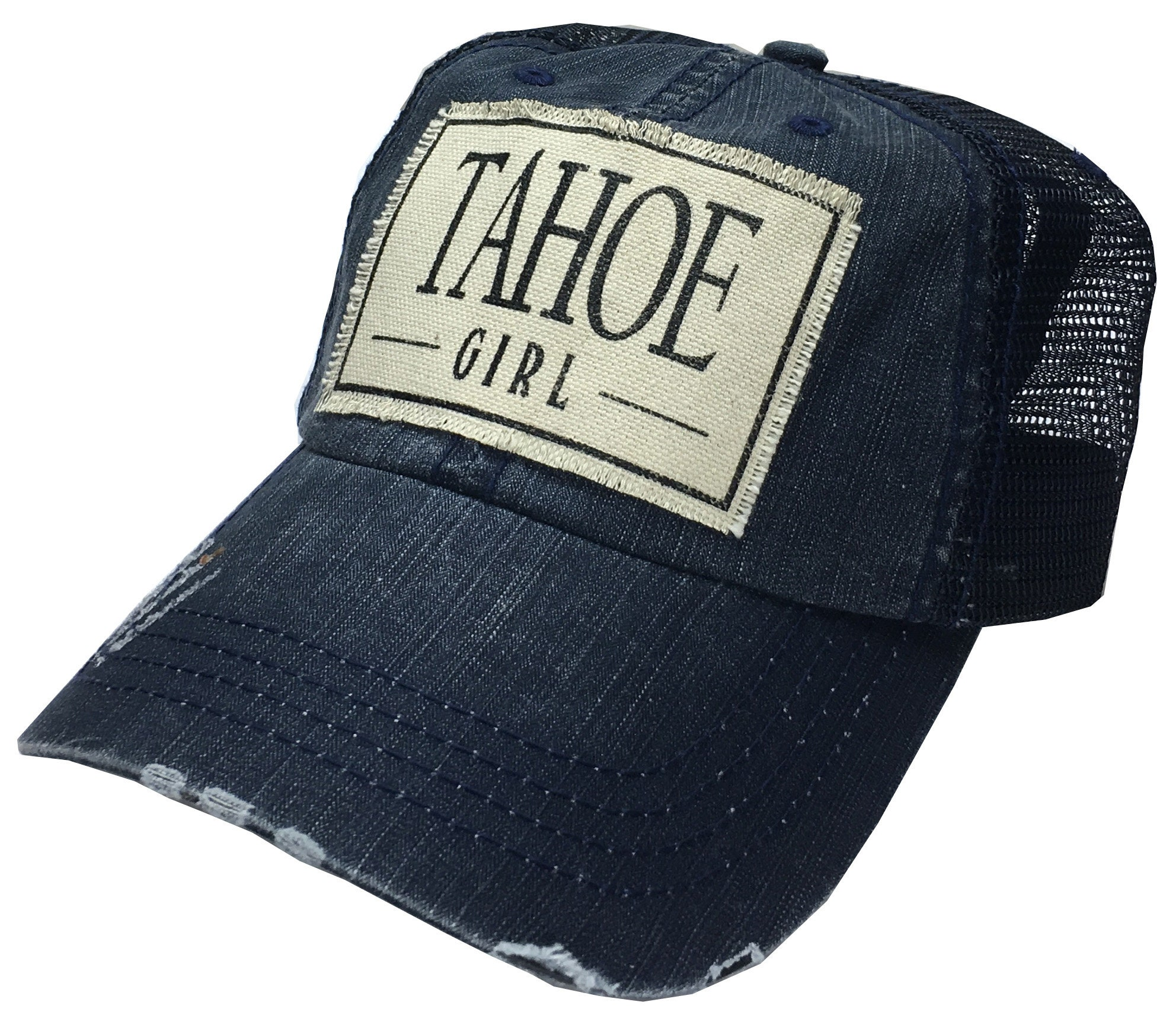 Women s Trucker Hat Blue Trucker Cap Tahoe  f72bf1f66d