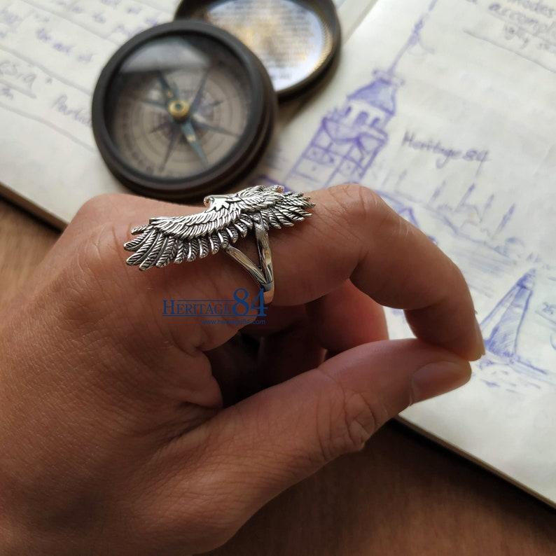Herren-Ring Adler-Ring Statement-Ring für Mann goldenen   Etsy