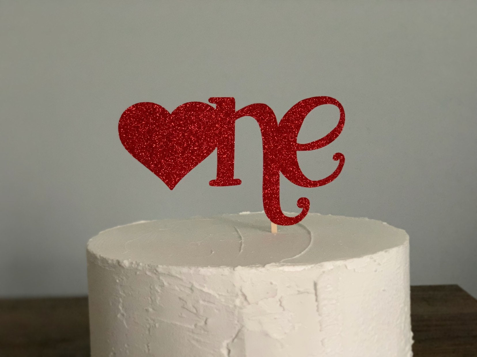 Fantastic One Heart Cake Topper One Valentine Cake Topper Red One Cake Etsy Funny Birthday Cards Online Elaedamsfinfo