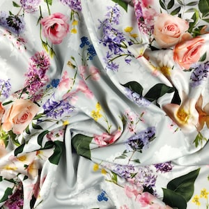 FS251 Multicolour Fish Conversational Print  on High Quality Jersey Stretchy Scuba Fabric Sold Per Metre