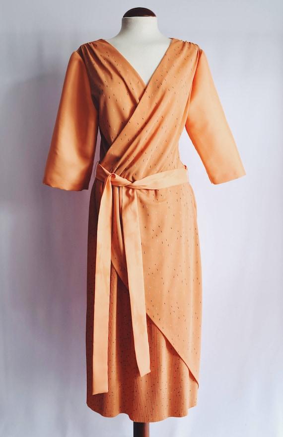 Orange Cross Dress