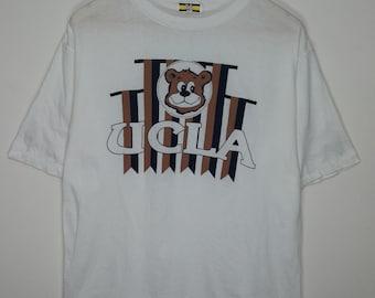 Vintage 90s UCLA Bruins Bear Large White T-shirt 2049b73fec6c