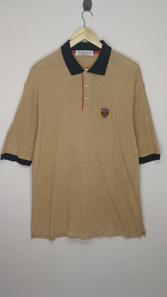 SALE!!! Vintage 90's Burberry Embroidery Logo Larg