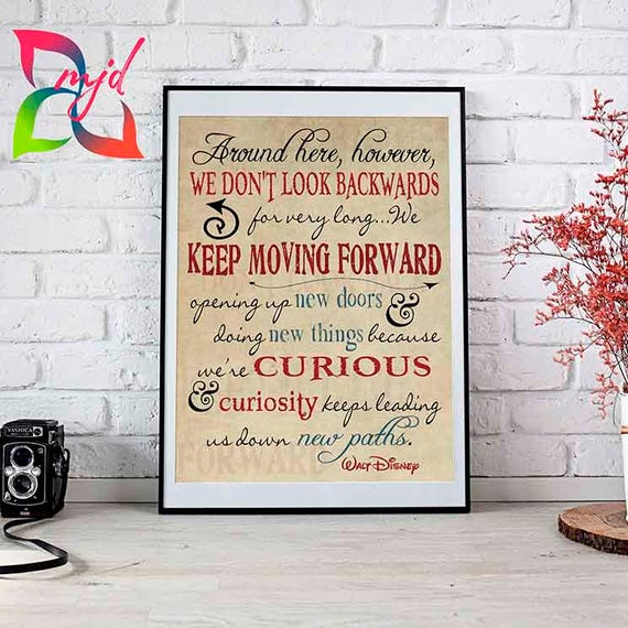 Keep Moving Forward 5 Sizes Available Disney Quote Etsy