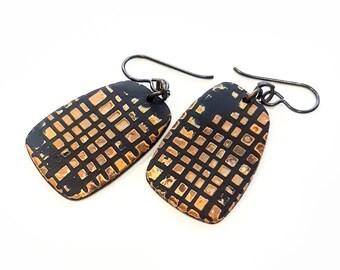 Grunge ethnic earrings