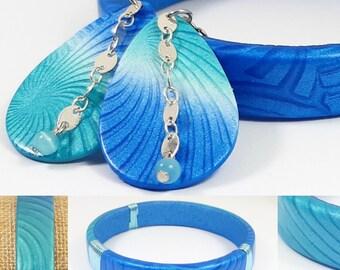 Turquoise satin boho adornment and phthalo blue