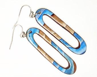 Ceruse panelled earrings