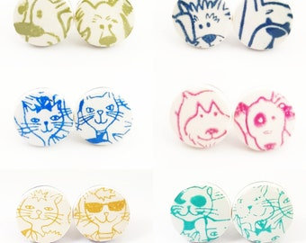 Ear chips cats dogs small jewelry pets children