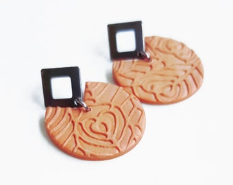 Round earrings stainless steel primers