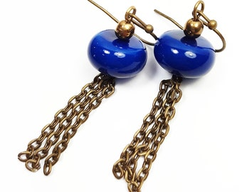Vintage glossy earrings