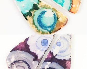 Original and colorful bohemian earrings, boho