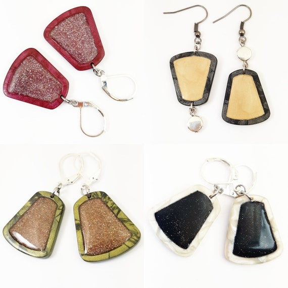 Small pearly sequined earrings
