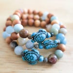 Turtle | Rosewood | Aromatherapy | Essential Oil | Diffuser Bracelet | Amazonite | Beaded Bracelet | Yoga | Stretch Bracelet | Handmade
