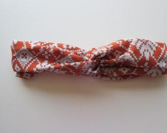 Retro Top Knot Headband - Handmade Headband - Twist Headband - Knotted Headband - Turban Headband - Twisted Headband