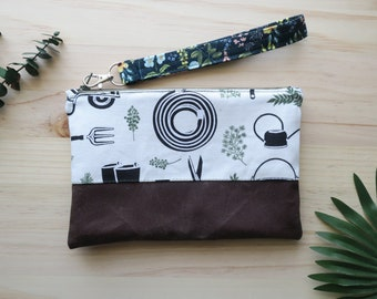 Rifle Paper Co. - Cotton and Steele- Garden Handbag -Floral Gift - Floral Purse - iPhone Clutch - Small Purse - Gift for Her
