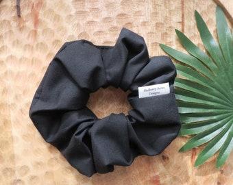 Sustainable Scrunchies - Cotton Scrunchie - Handmade Scrunchie - Black Scrunchie - Amy