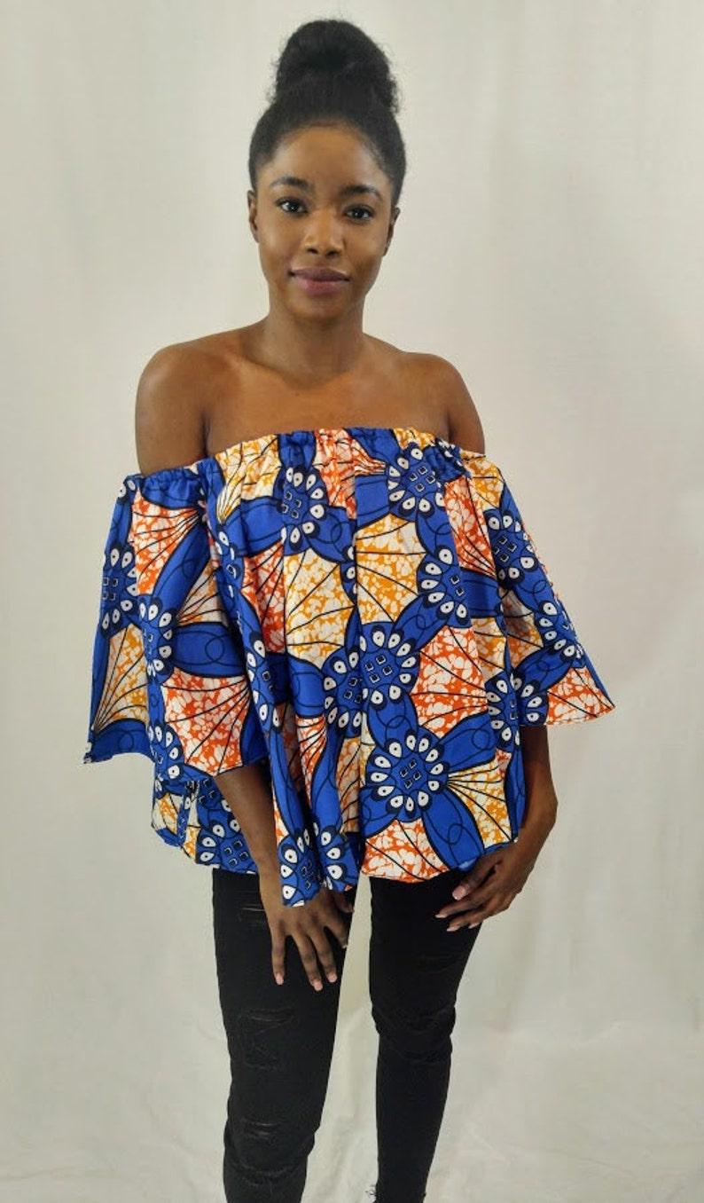 39534b8c8e988 African off shoulder Off shoulder top African print off