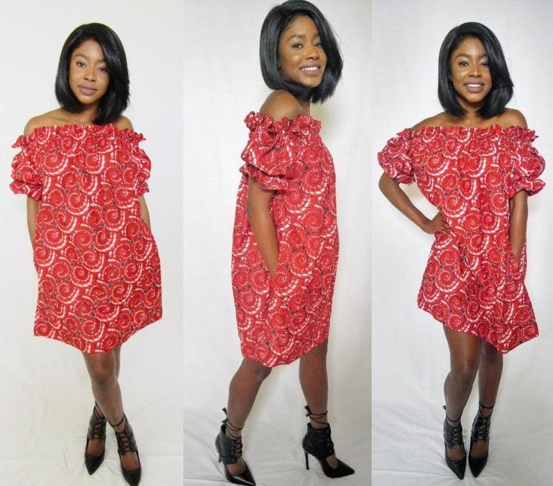 8ff9e36b7feb4 African dress African off-shoulder dress African print
