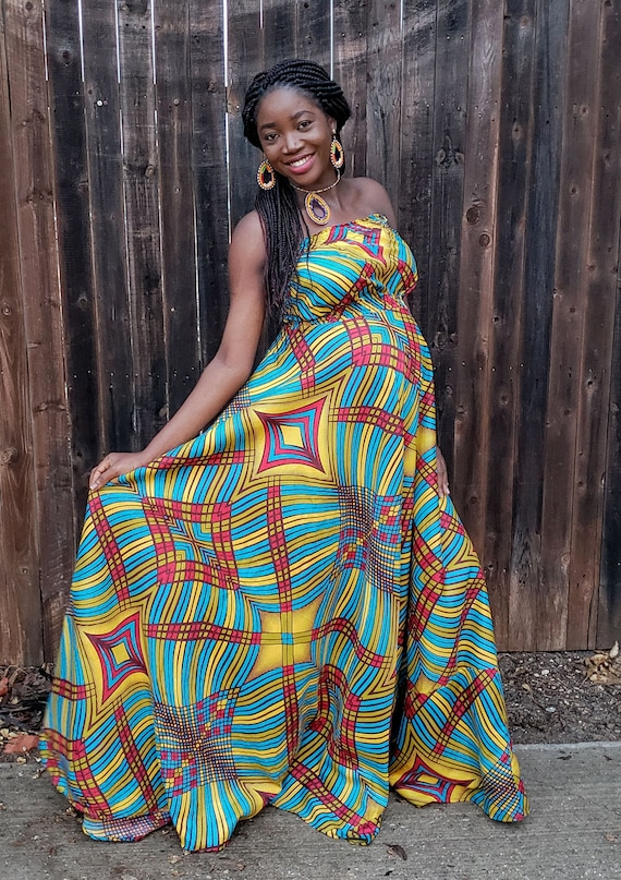 African Maternity Dress African Dress African Clothing Etsy