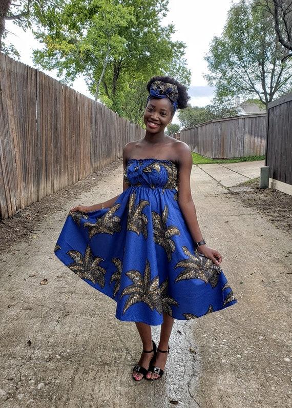 African Dress Midi Dress African Print Dress Ankara Etsy